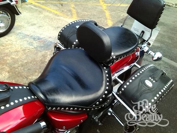 driver rider backrest yamaha midnight star vstar xvs 1300 xvs 950 ebay. Black Bedroom Furniture Sets. Home Design Ideas