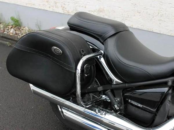 kawasaki vn900 vulcan chrome rear guards crash bars. Black Bedroom Furniture Sets. Home Design Ideas