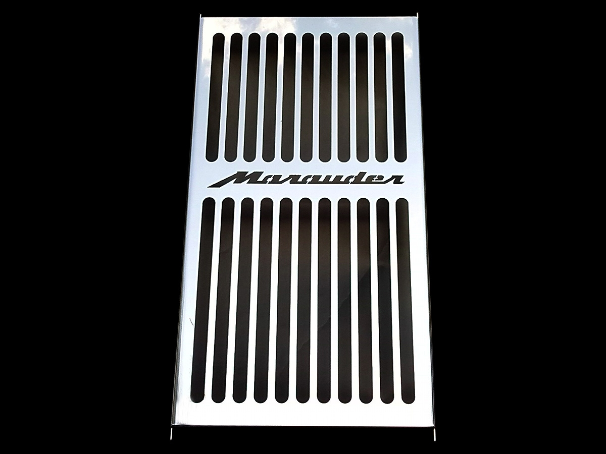 Polished Stainless Radiator Grill Guard Cover For Suzuki 1997-2003 Marauder 800