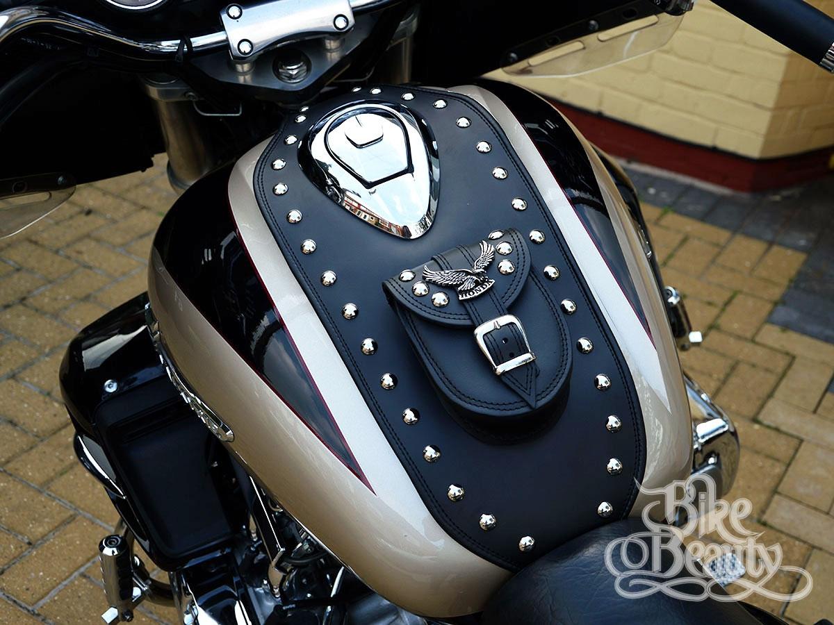 honda valkyrie fc gl   leather tank pad panel bib chap bra ebay