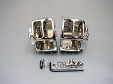 Chrome Handlebar Switch Control Housings Covers Harley Davidson Softail, Fatboy