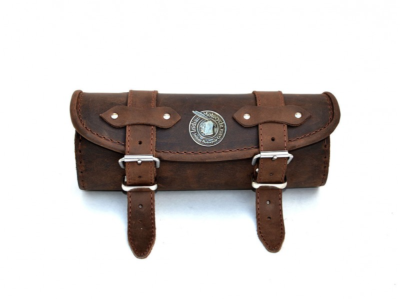 Motorcycle Tool Bag >> BiO) Brown Leather Tool Roll Bag Indian Motorcycle Chieftain Chief Classic