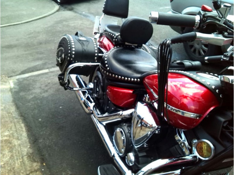 driver rider backrest yamaha midnight star xvs 1300 vstar. Black Bedroom Furniture Sets. Home Design Ideas