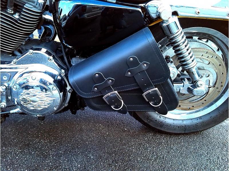 Leather Swingarm Single Sided Pannier Saddle Bag Harley