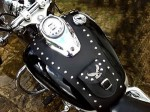 (S) YAMAHA DRAGSTAR,  VSTAR  XVS 650 CLASSIC & CUSTOM LEATHER TANK Panel  Bib