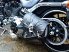 3D Skull Black & White Top Leather Swingarm Left Single Bag for Harley Davidson Breakout